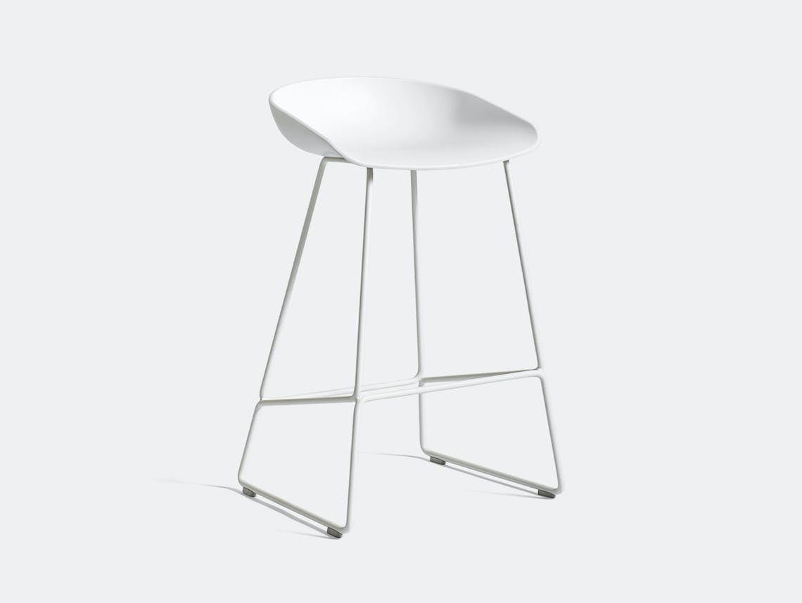 Hay Aas38 Stool H65 White Base White Hee Welling