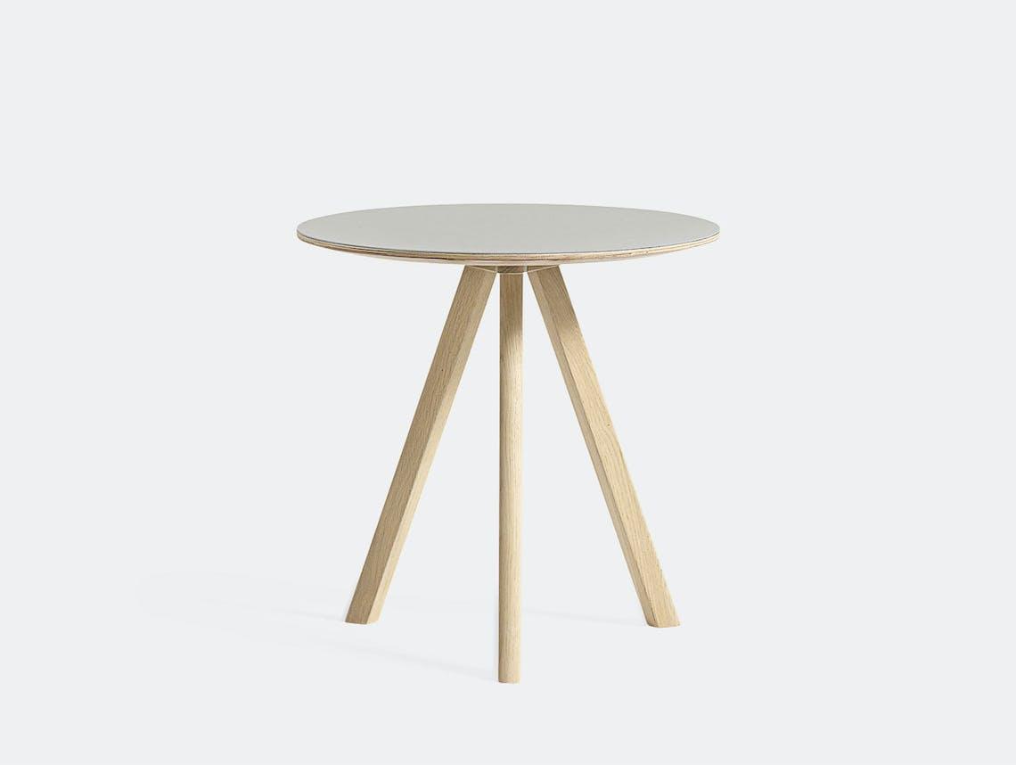 Hay Cph20 Side Table Oak Off White Lino Ronan Erwan Bouroullec