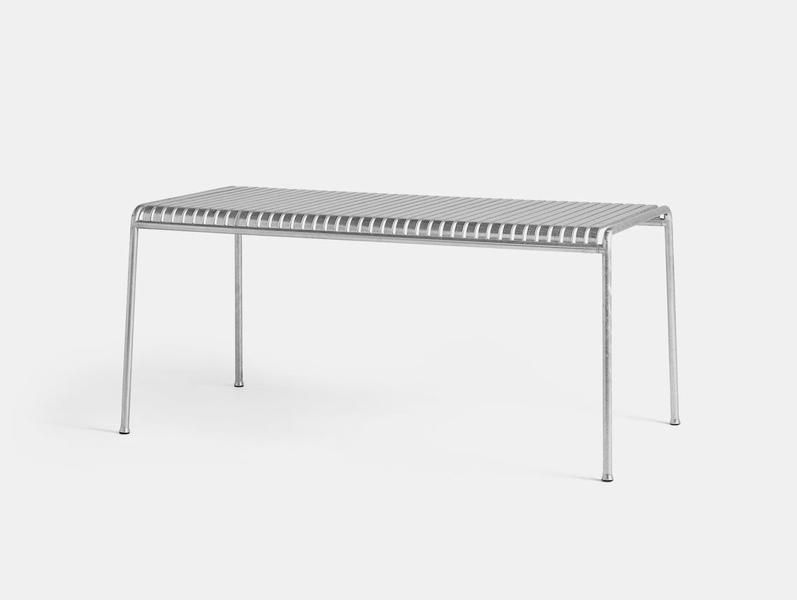 Hay Palissade Large Outdoor Dining Table Galvanised