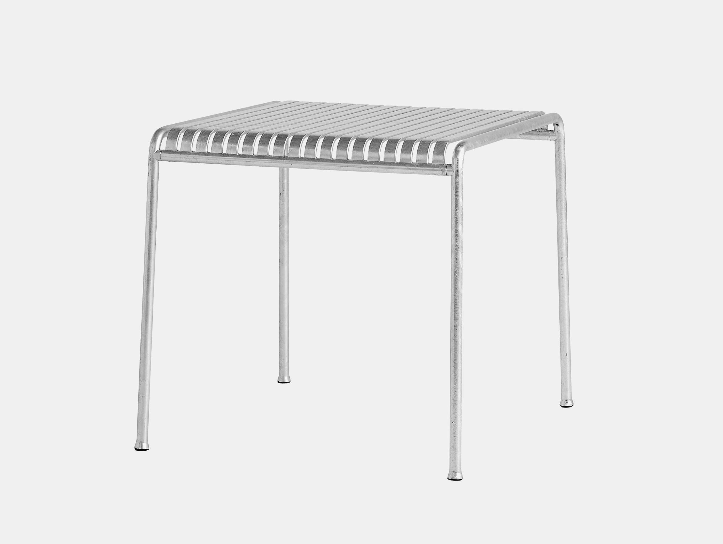 Hay Palissade Square Outdoor Dining Table Hot Galvanised