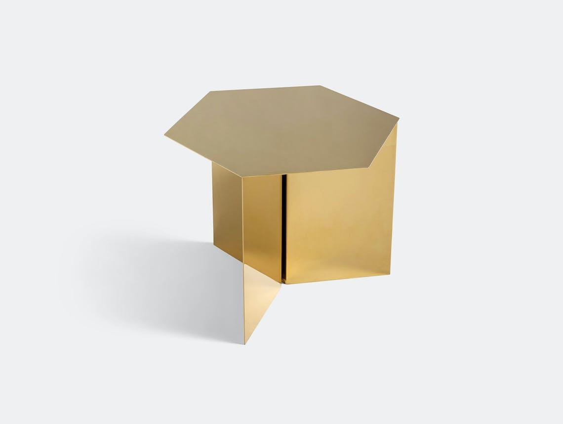 Hay Slit Table Hexagon Brass