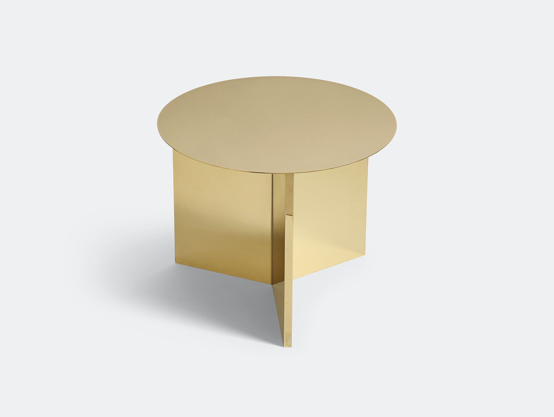 Hay Slit Table Round Brass