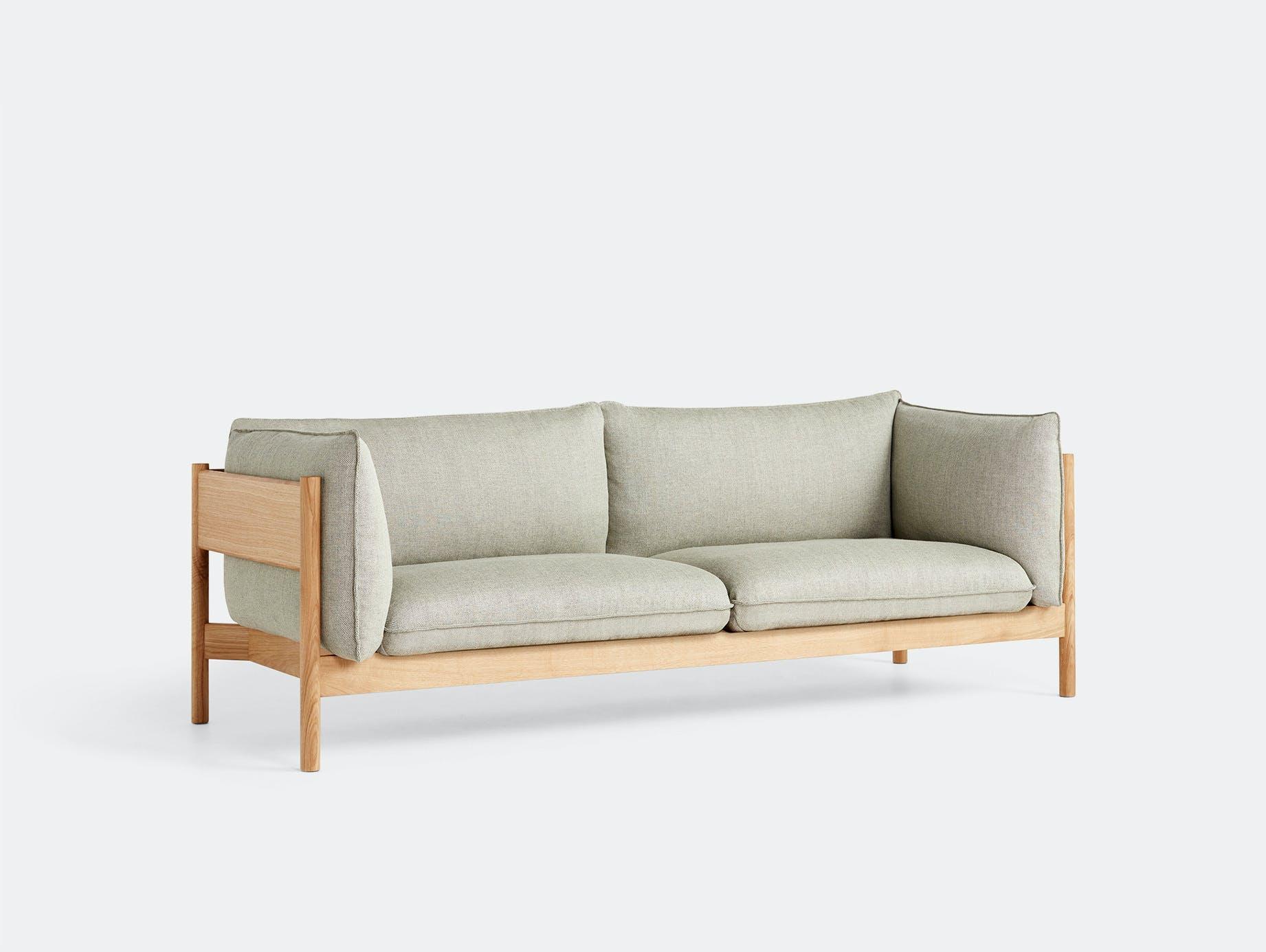 Hay arbour 3 seater sofa rewool 408 oak