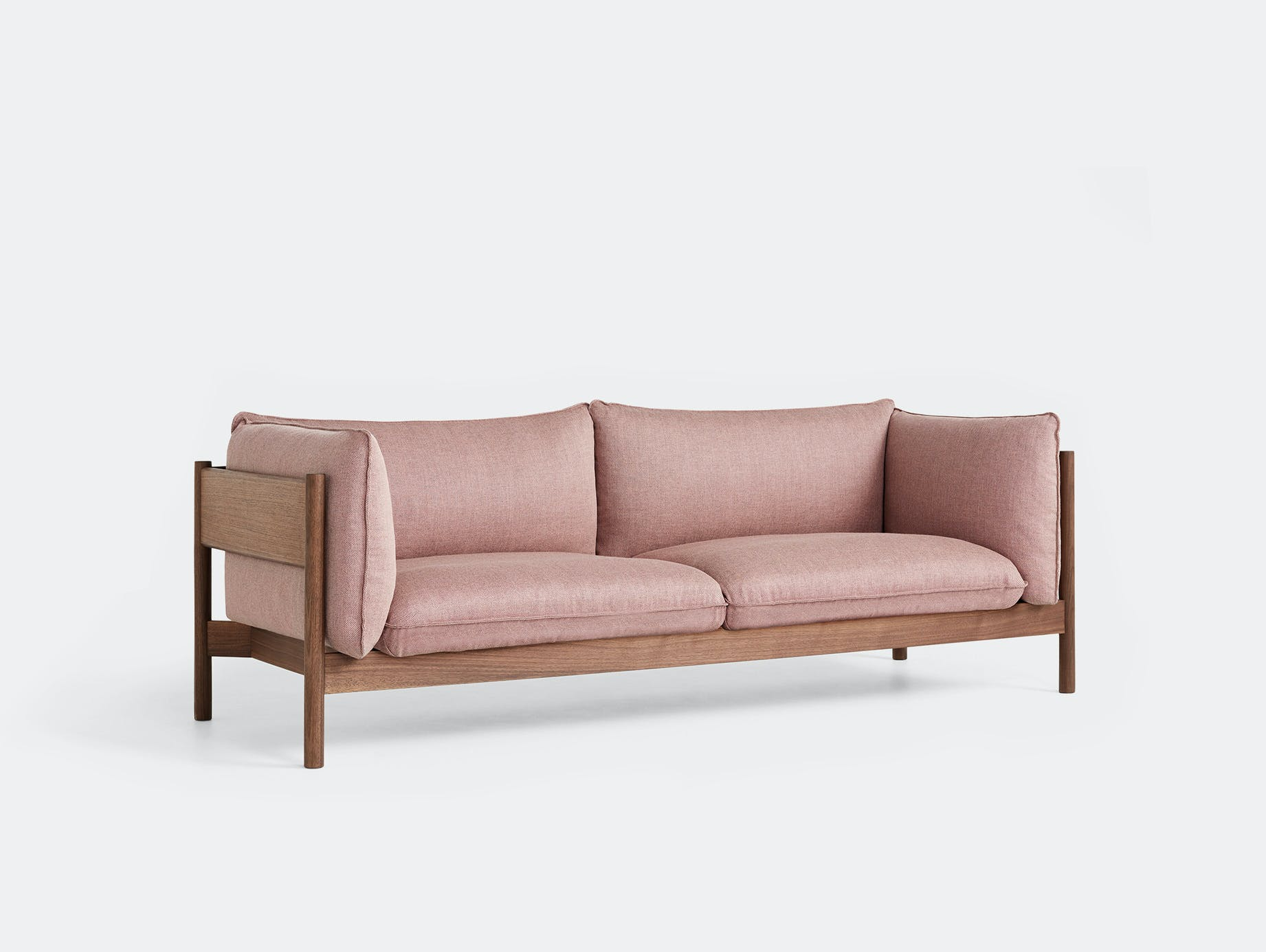 Hay arbour 3 seater sofa rewool 648 walnut