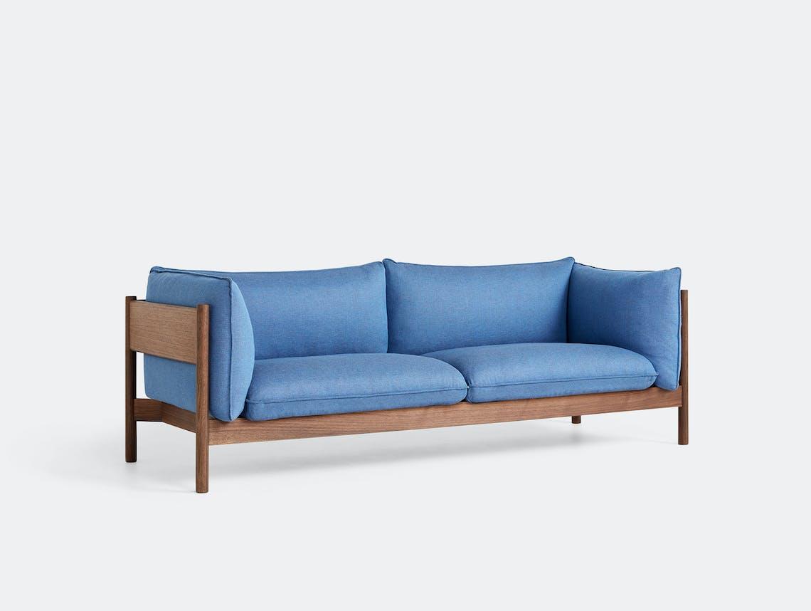 Hay arbour 3 seater sofa rewool 758 walnut