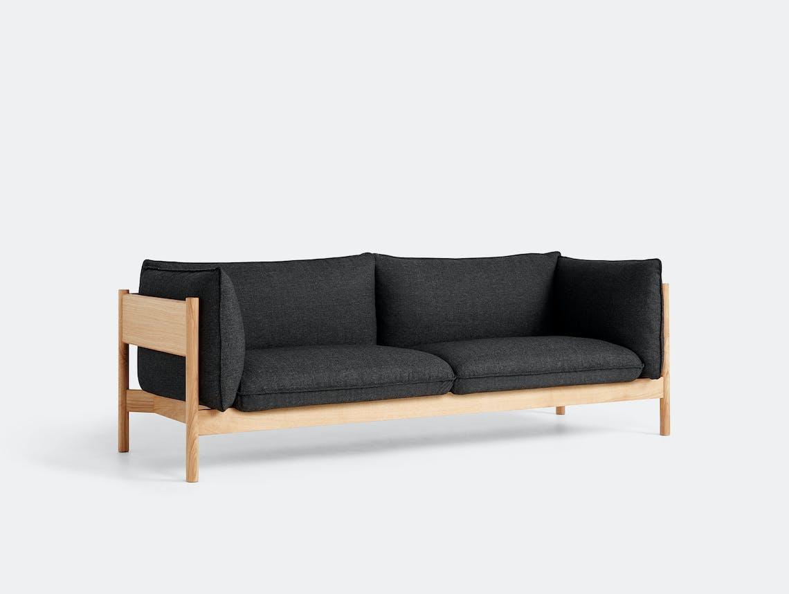 Hay arbour 3 seater sofa rewool 98 wax oak