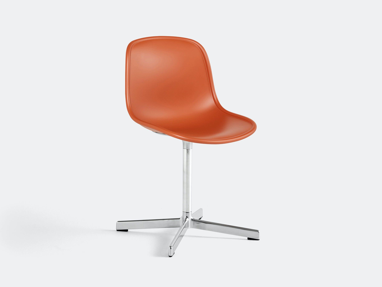 Hay neu 10 chair orange w aluminium base
