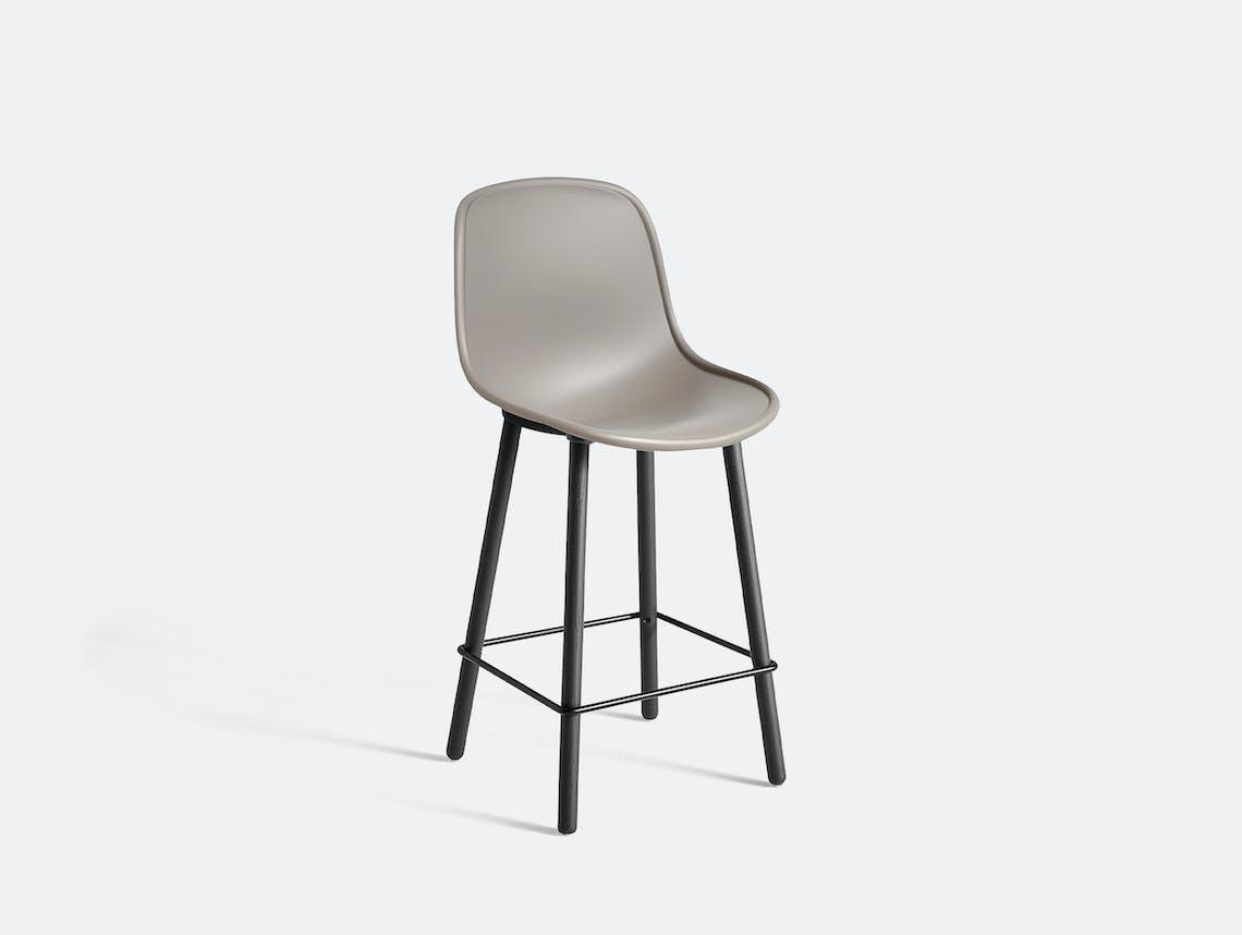 Hay neu bar stool counter grey soft black oak