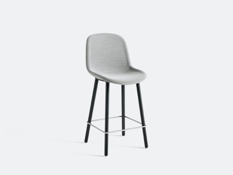 Hay neu bar stool counter uph bl oak steelcut 124