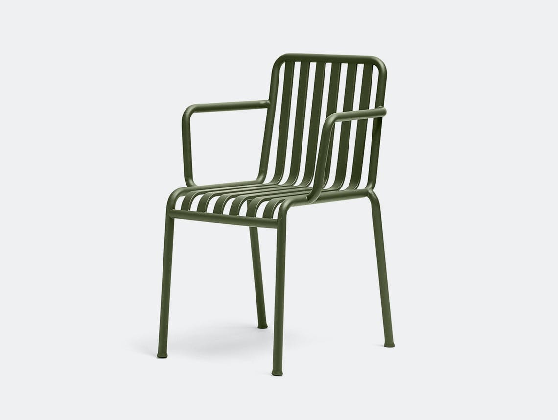 Hay palissade armchair olive green