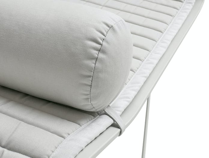 Hay palissade chaise longue quilted cushion bolster sky grey