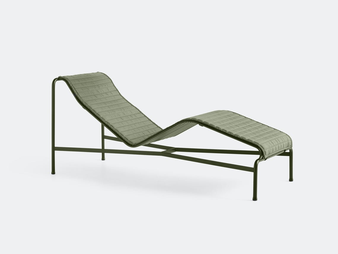 Hay palissade chaise with pad