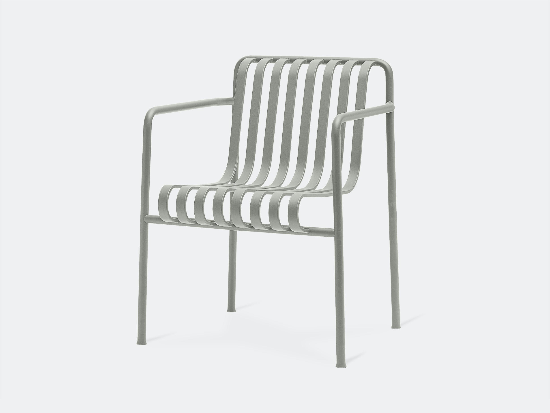 Hay palissade dining armchair grey