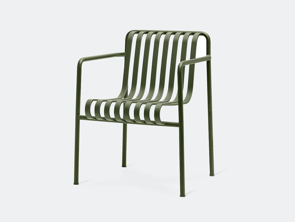 Hay palissade dining armchair olive green