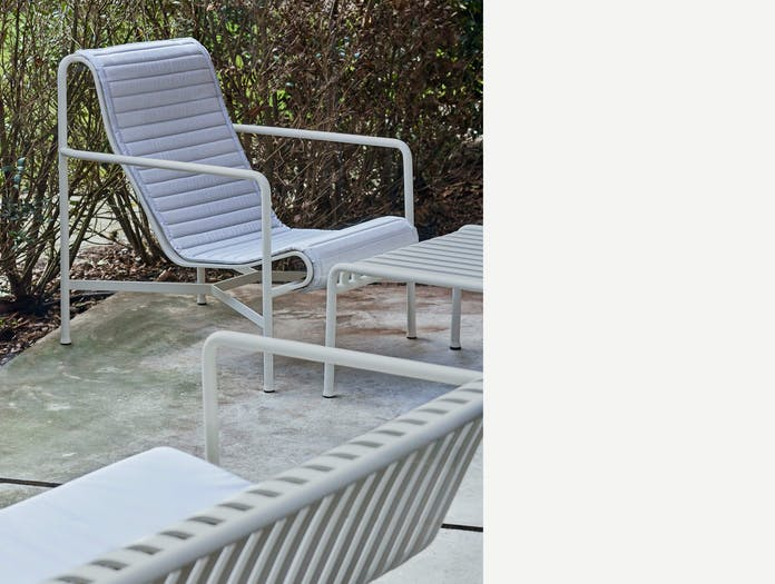 Hay palissade high lounge chair quilted pad ls 1