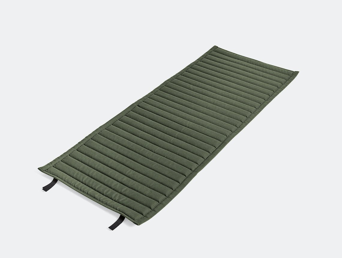 Hay palissade high lounge chair quilted pad olive green