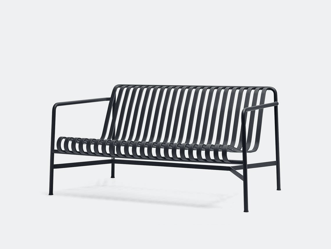 Hay palissade lounge sofa black