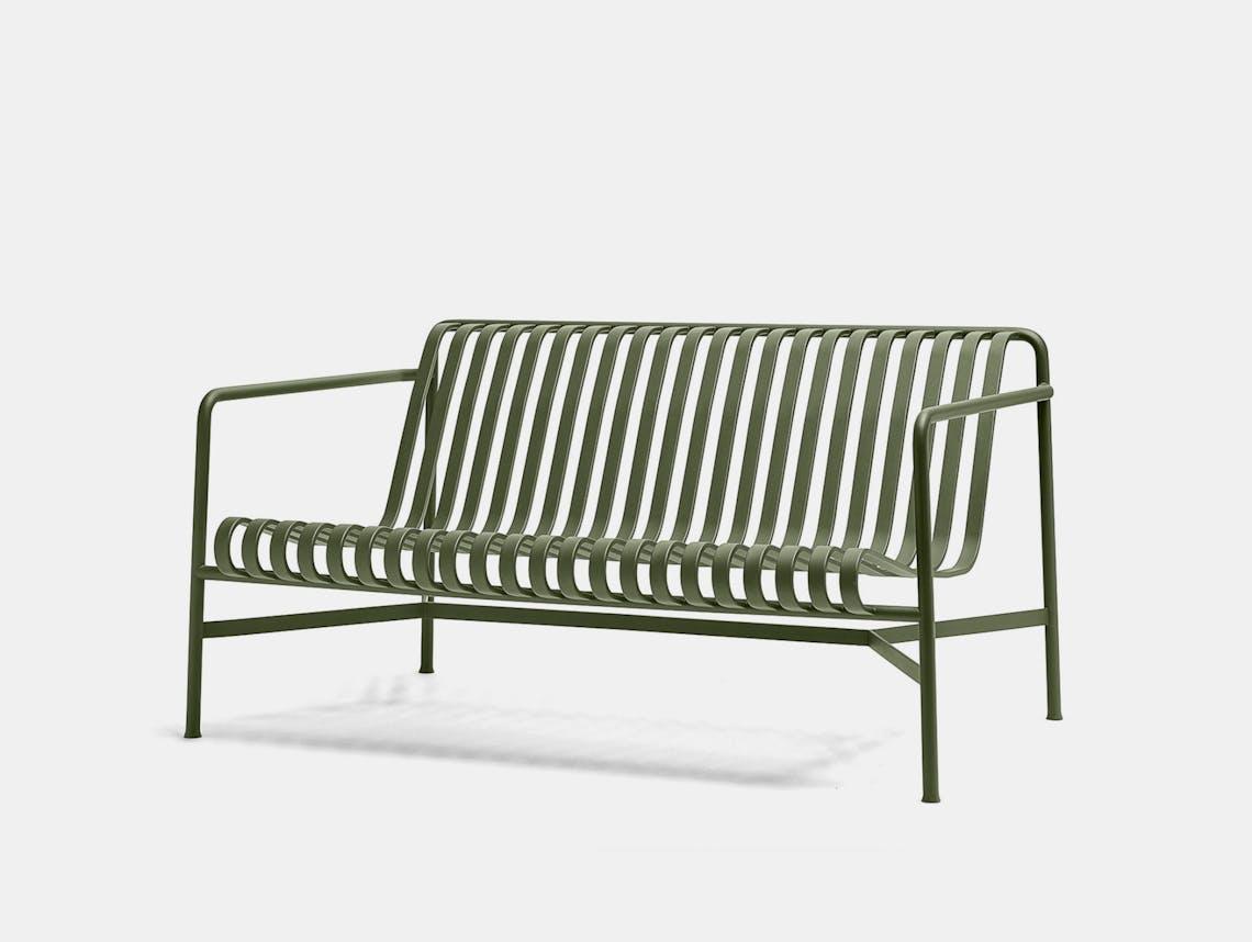 Hay palissade lounge sofa olive green