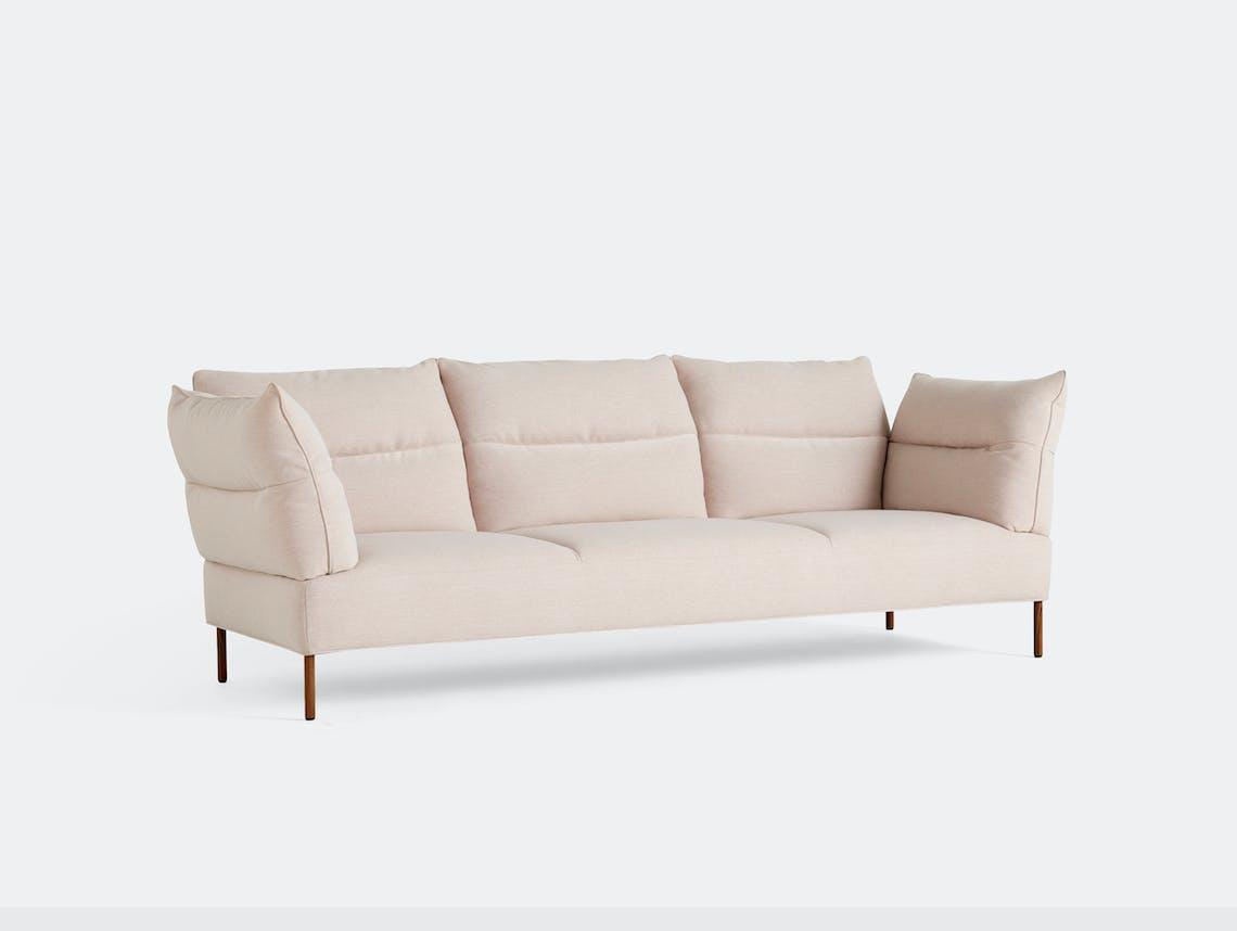 Hay pandarine 3seat sofa reclining pink walnut
