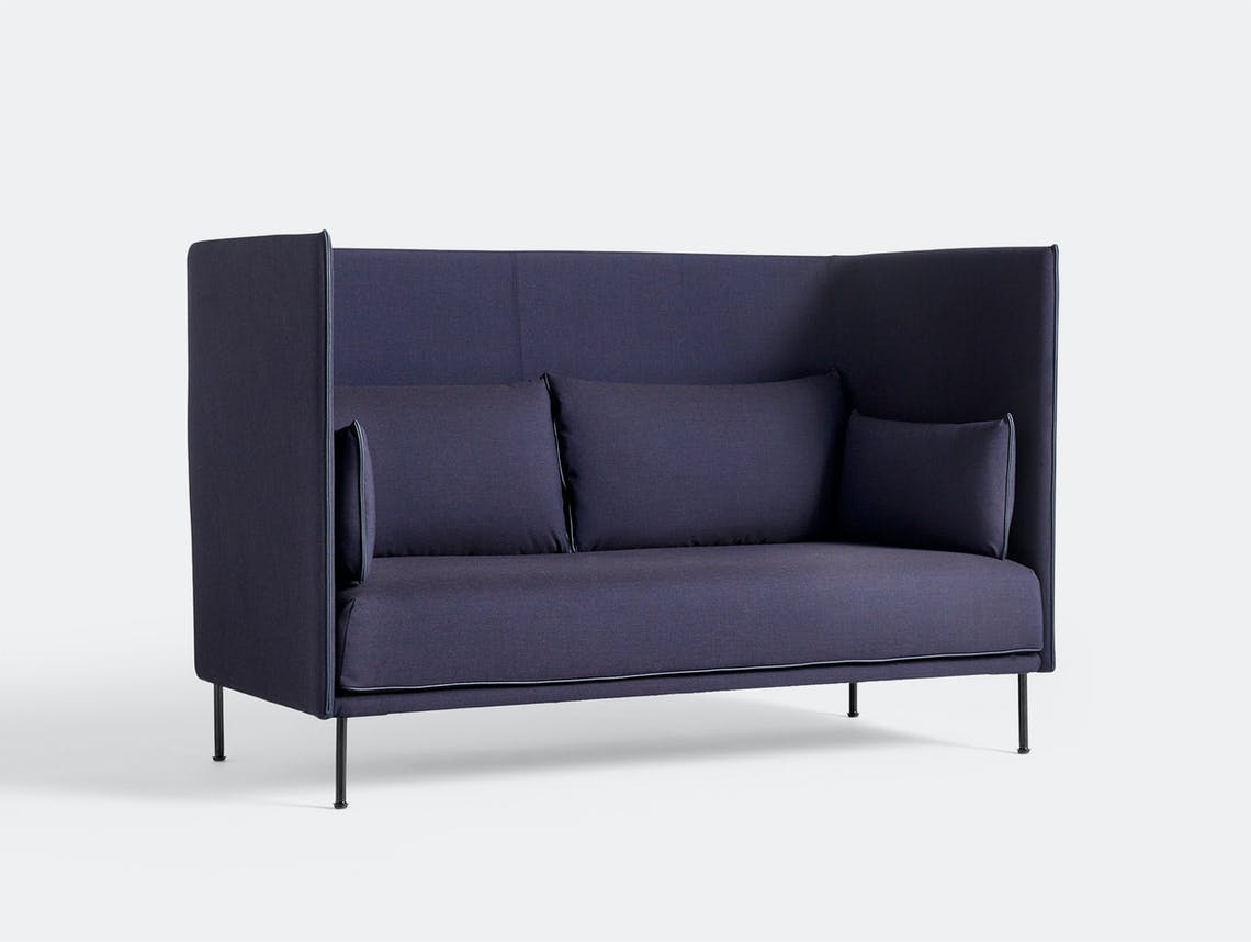 Hay silhouette sofa 2 seater high remix 783 silk black base