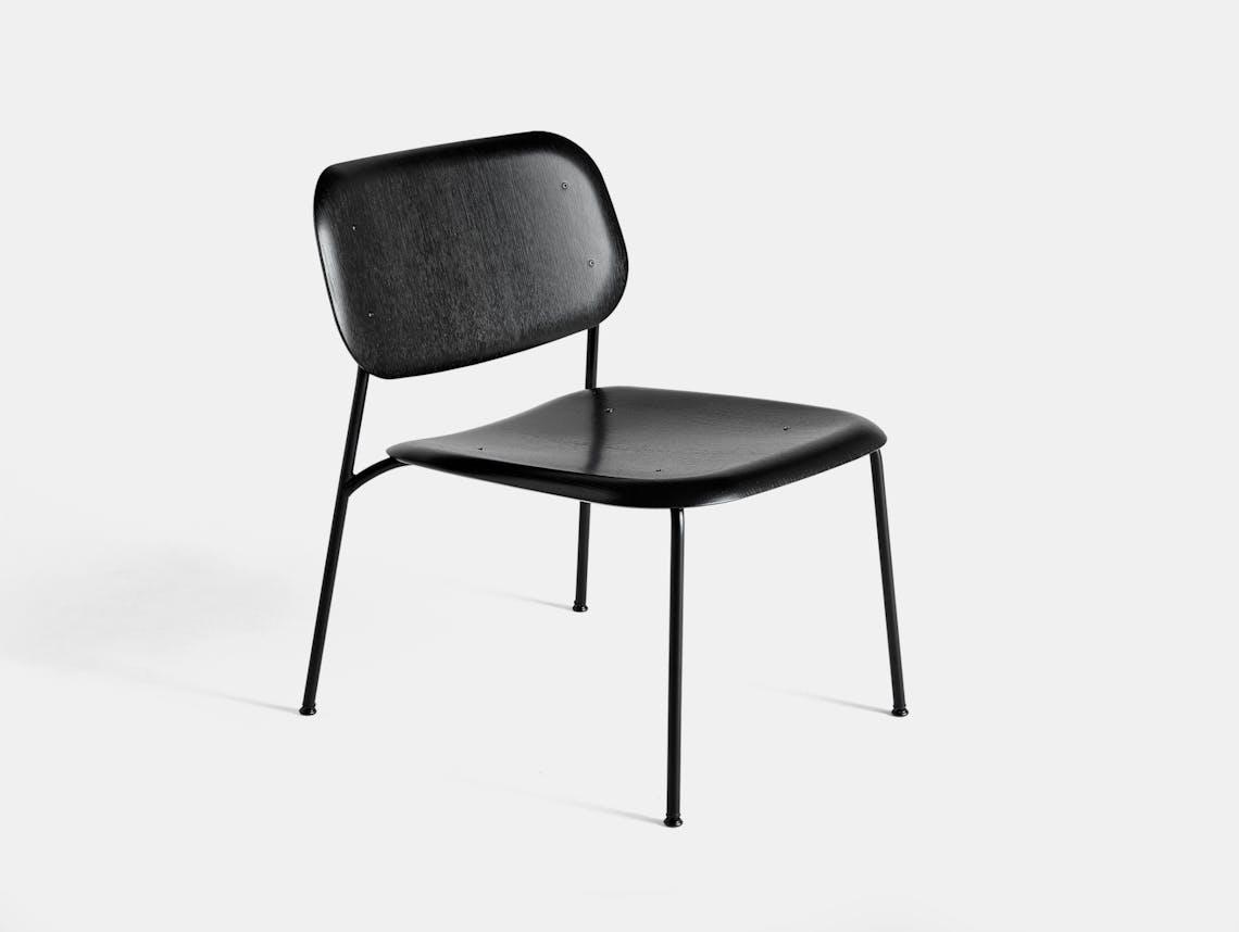 Hay soft edge 10 lounge chair black