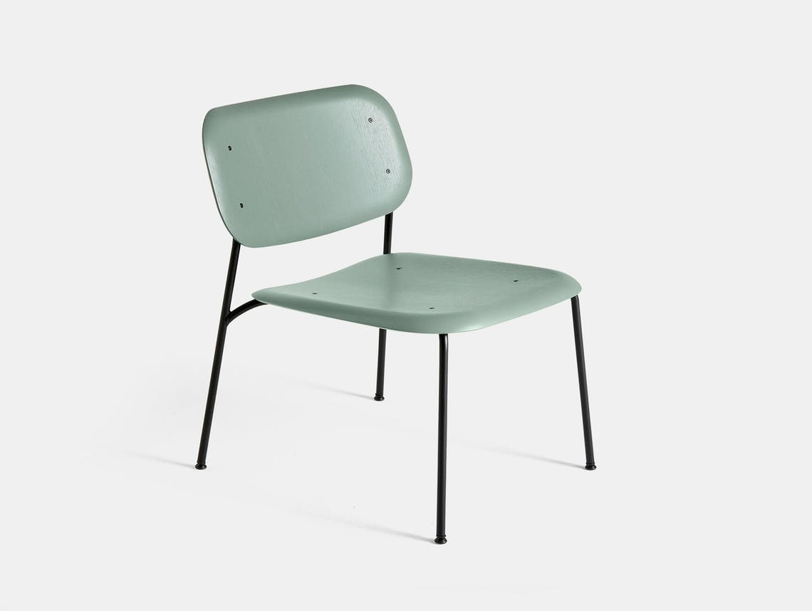 Hay soft edge 10 lounge chair d green