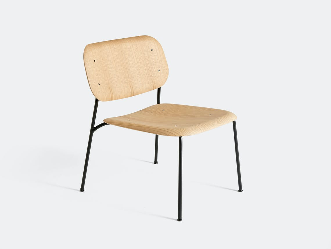 Hay soft edge 10 lounge chair oak black