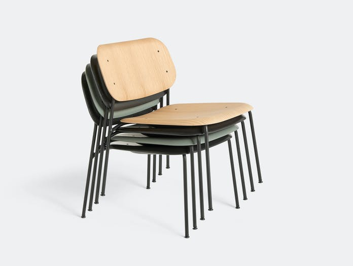 Hay soft edge 10 lounge chair stacked