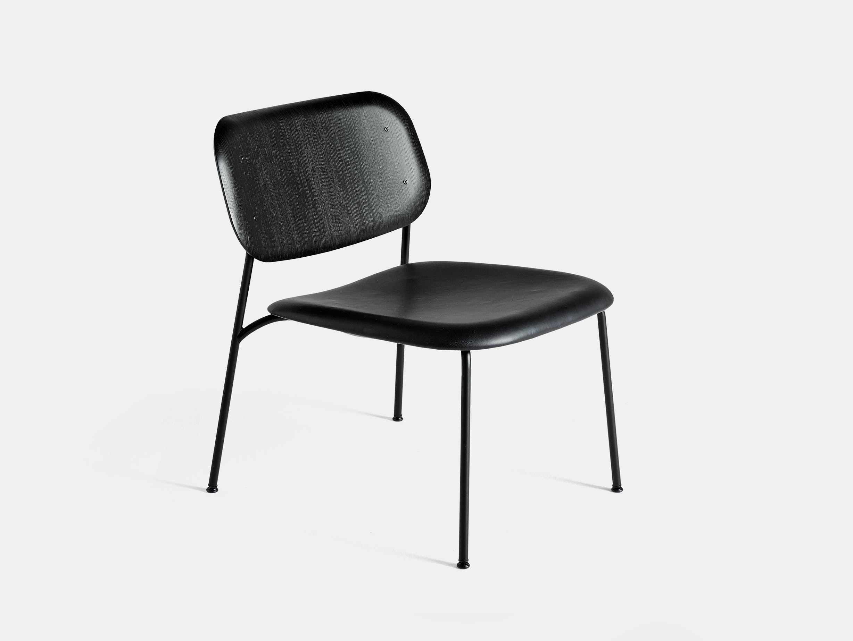 Hay soft edge 10 lounge uph silk black leather