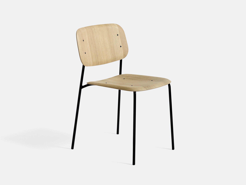 Hay soft edge 10 oak seat black frame