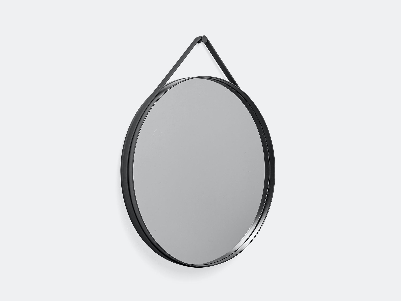 Hay strap mirror large 70 anthracite