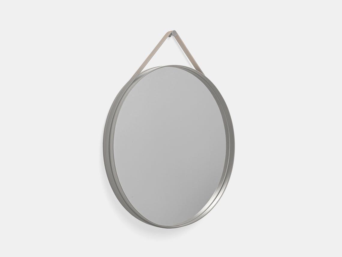Hay strap mirror large 70 grey