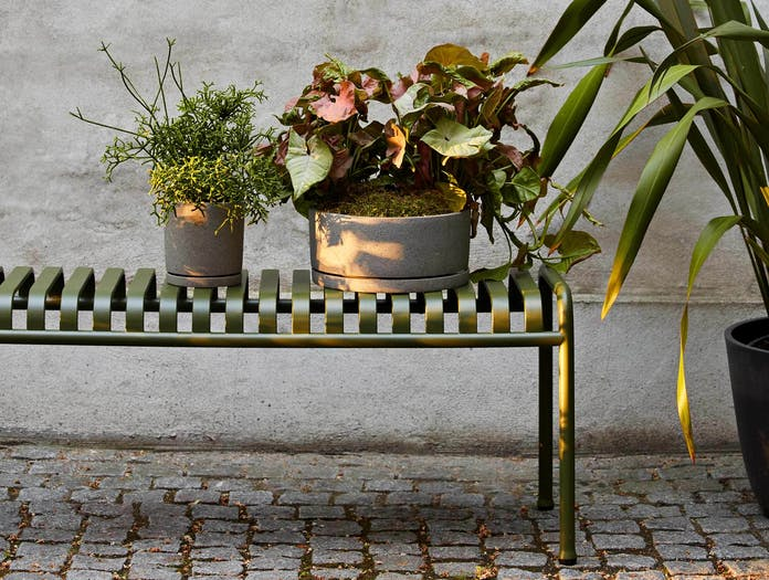 HAY palissade bench olive ls 2