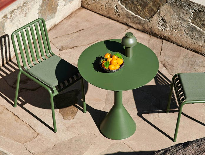 HAY palissade cone table round olive ls 3