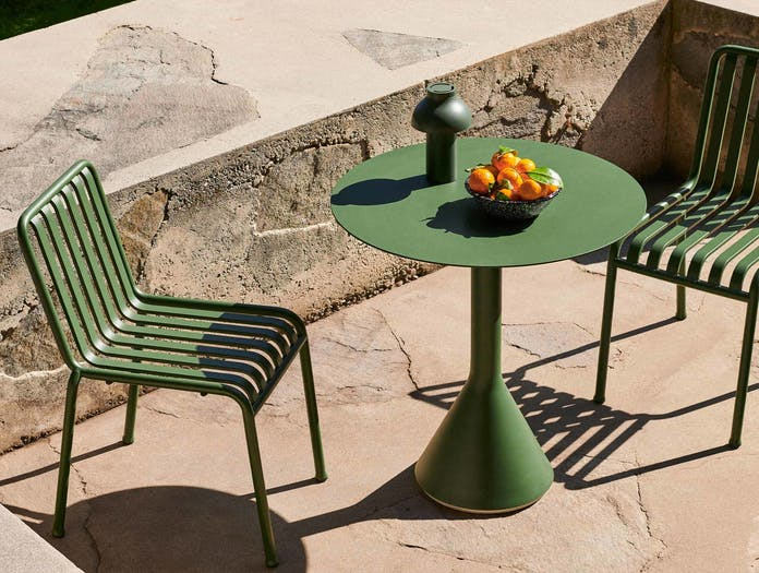 HAY palissade cone table round olive ls 4