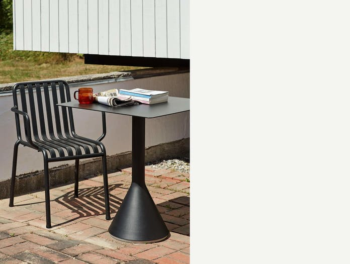 HAY palissade cone table square anthracite ls 3