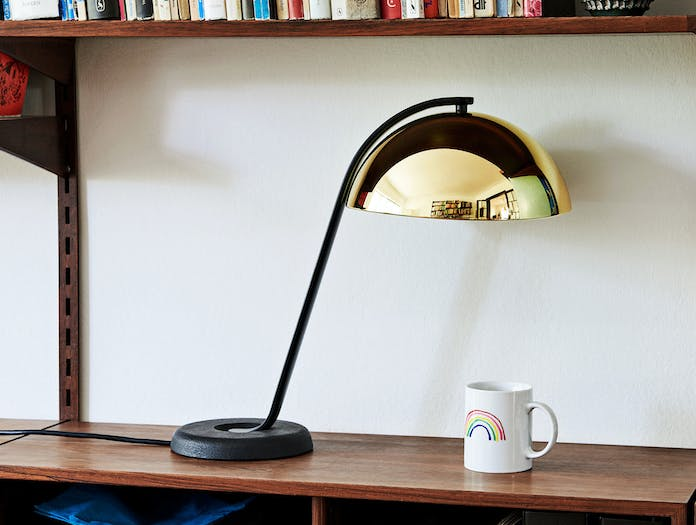 Hay Cloche Lamp Brass