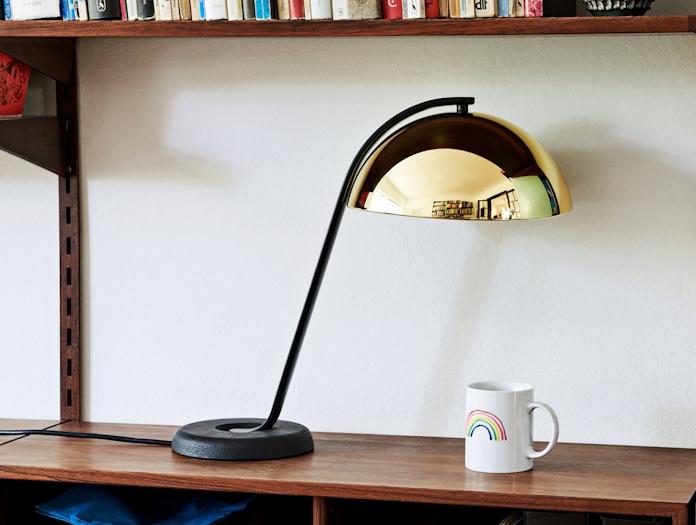 Hay Cloche Lamp Brass