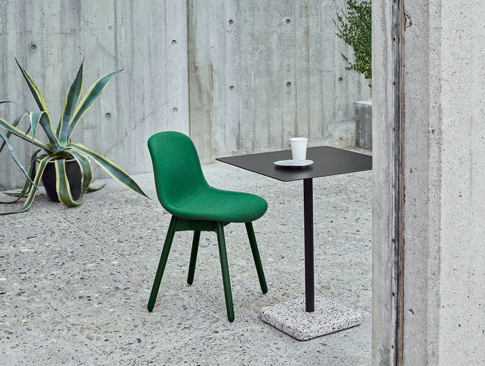 Hay Neu13 Chair Oak Stained Base Green