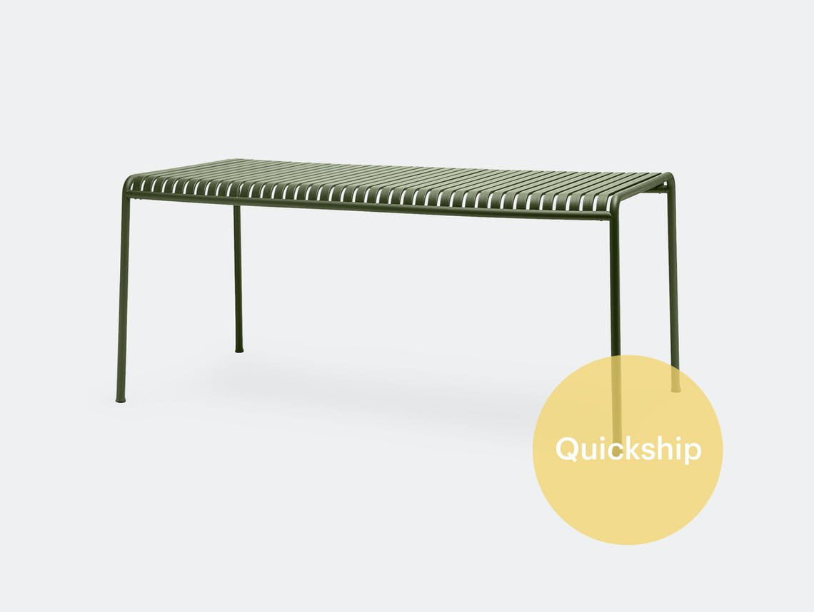 Hay Palissade Large Outdoor Dining Table Olive Green QS