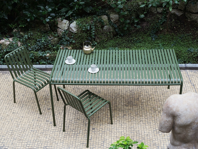 Hay Palissade Outdoor Table And Chairs Ronan And Erwan Bouroullec