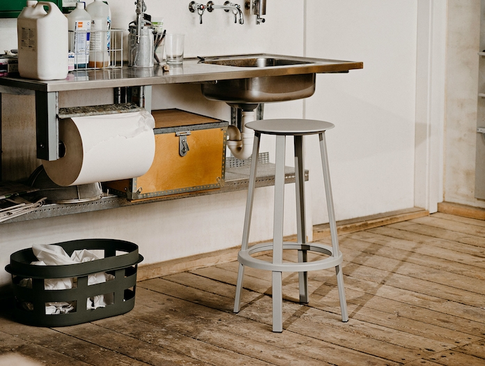 Hay Revolver Bar Stool High Sky Grey