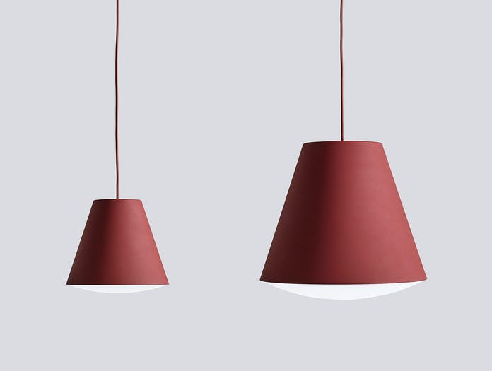 Hay Sinker Pendant Light Red Family