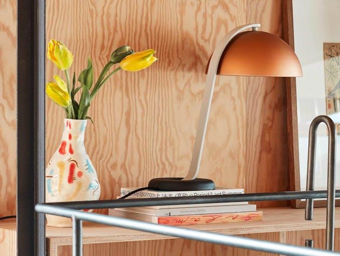 Hay cloche table copper lamp ls