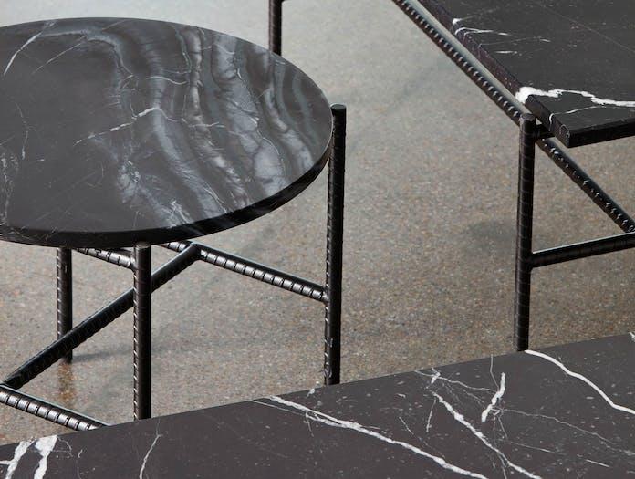 Hay rebar side table close up