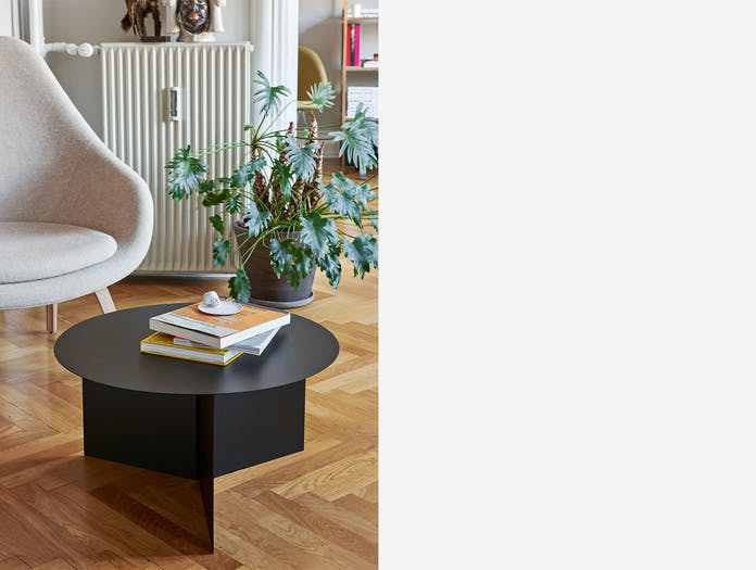 Hay slit XL round table black ls