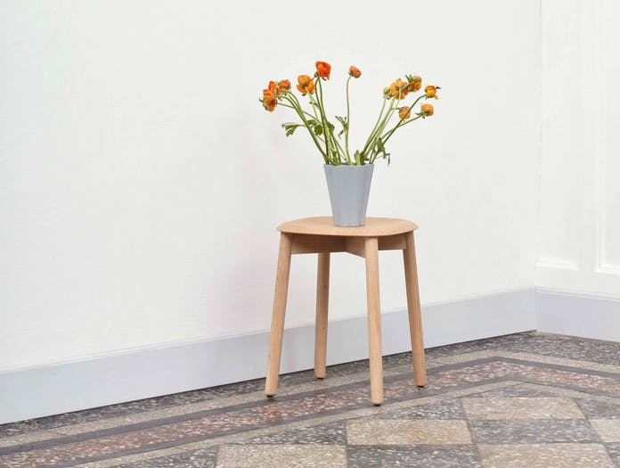 Hay soft edge 72 stool oak lifestyle