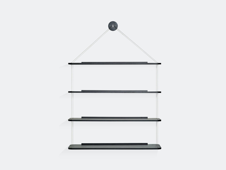 Karakter Libreria Pensile Wire Bookcase Black Achille Pier Giacomo Castiglioni