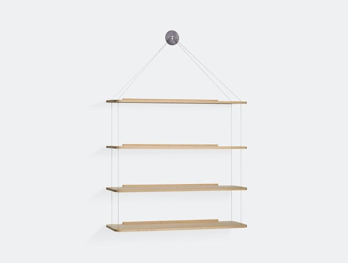 Karakter Libreria Pensile Wire Bookcase Oak Achille Pier Giacomo Castiglioni