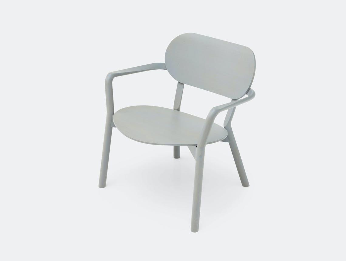 Karimoku Castor Low Chair Grey Big Game